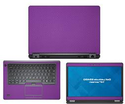 Decalrus - Dell Latitude E5450  laptop PURPLE Carbon Fiber s