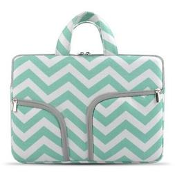 HESTECH-Chevron Canvas Fabric Zipper Bag Cover Macbook Case,