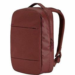 city compact backpack deep red laptop cases