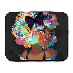 FSKDOM Laptop Sleeve Computer Ultrabook Case African Girl Wi