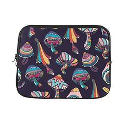 Design Custom Seamless Pattern with Colorful Mushrooms in Do