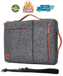 DOMISO 17 Inch Laptop Sleeve Shoulder Bag Water-Resistant Pr