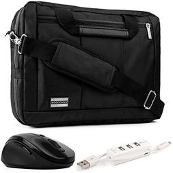 EL Prado 3-in-1 Hybrid Black Trim Laptop Bag w/Wireless Mous