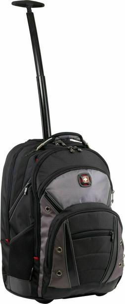 """EMAIL> NEW Wenger Synergy Wheeled Laptop Backpack 16""""  SWISS"""