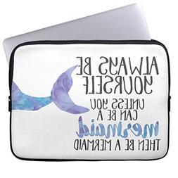 Eratio Be a Mermaid Laptop Sleeve 12 Inch Macbook Air Case M