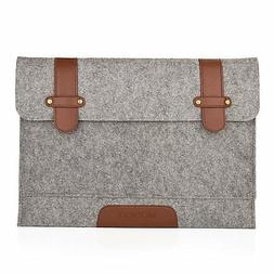 Mosiso Felt 15-Inch Sleeve Carrying Case Laptop Bag Cover fo