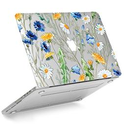 GMYLE Floral Design Clear See-through Case forOld MacBoo