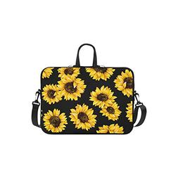 InterestPrint Floral Sunflower Laptop Sleeve Case Bag, Sunfl
