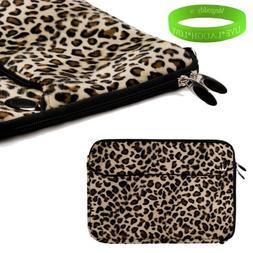Travel friendly Exotic Leopard Print 13 inch Faux Fur Laptop