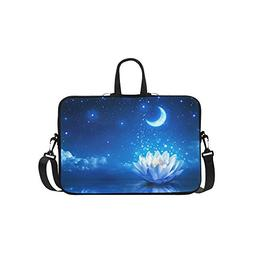 InterestPrint Galaxy Moon Star Laptop Sleeve Case Bag, Flowe