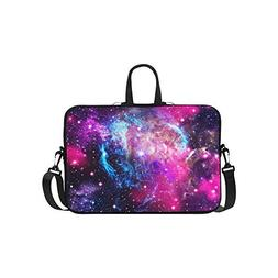 InterestPrint Galaxy Nebula Laptop Sleeve Case Bag, Outer Sp