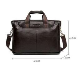 Bostanten Genuine Leather for Men Bags Shoulder Laptop and C
