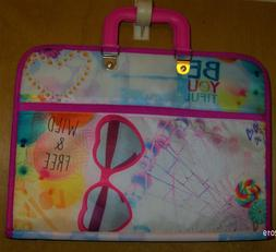 "Girls Be You Zippered Laptop Case       11"" x 14"""