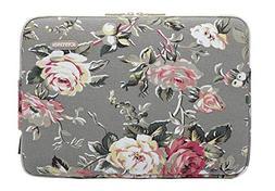 gray rose pattern canvas laptop