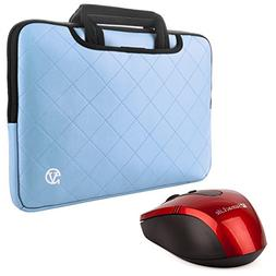 Vangoddy Gummy Light Blue Carrying Sleeve Briefcase for HP A