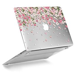 GMYLE Plastic Floral Pattern Hard Case for MacBook Air 13 In