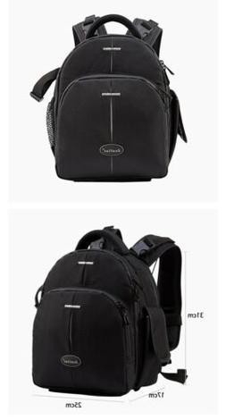 Jealiot Camera Bag Case Laptop Backpack DSLR LSR Digital Vid