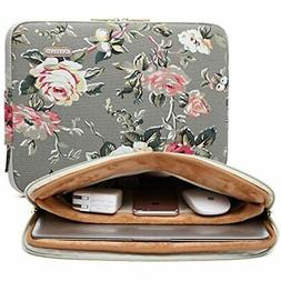 KAYOND Gery Rose Patten Canvas Water-resistant 15.6 Inch Lap