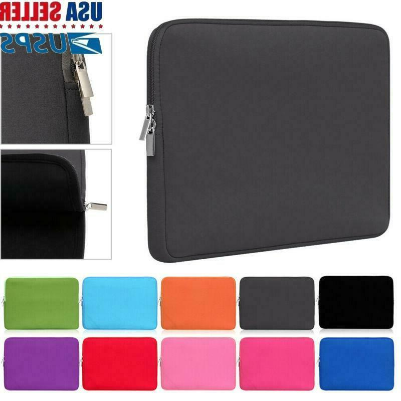 11 17inch soft laptop bag sleeve case