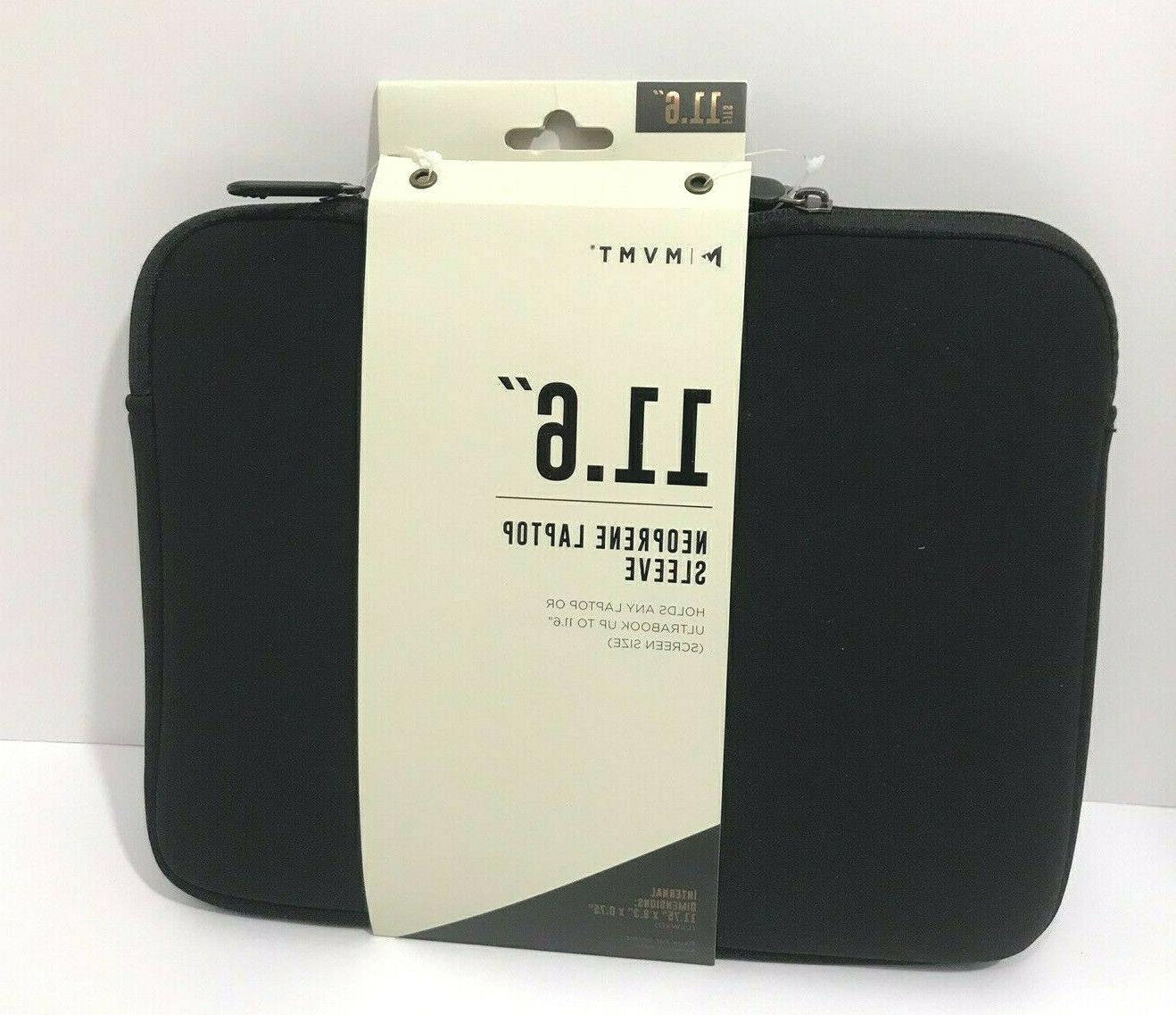 11 6 neoprene laptop sleeve case black