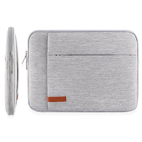Lacdo Sleeve Case Compatible New Touch Bar A1706 | MacBook Retina A1932 XPS | Pro 2017 Water USB-C Notebook Bag, Gray