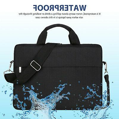 "13"" 15.6""Laptop Handbag Sleeve Case Bag Waterproof Durable Black/Gray"