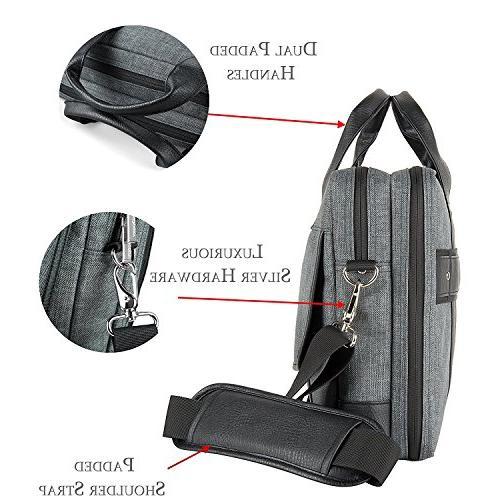 15 ~ 15.6 Laptop Bag, Twill Shoulder Laptop, Tablets, Ultrabooks, Notebook, Chromebooks & Netbook Computers