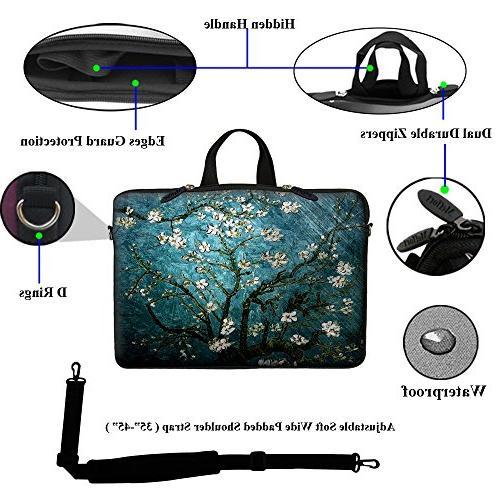 Meffort Inc inch Laptop Sleeve Bag Hidden Shoulder -