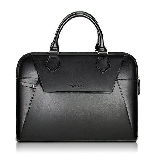 15 pu leather laptop bag