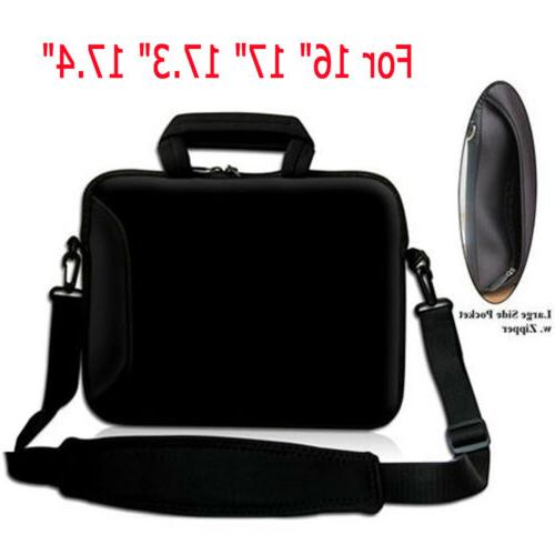 17 black laptop shoulder sleeve bag case
