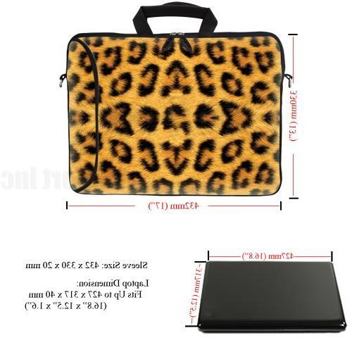 Meffort Inc 17 17.3 inch Laptop Sleeve Pocket, & Shoulder Strap for to Size -