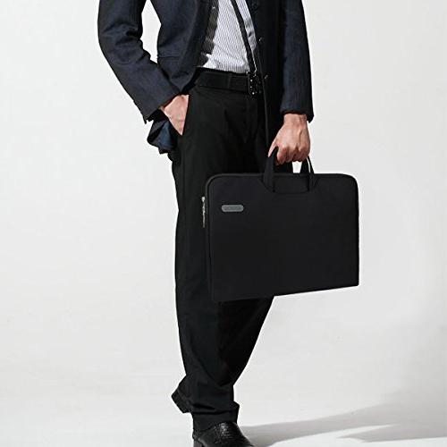 Arvok Multi-Color Laptop Bag with Handle/Notebook Computer Case/Ultrabook Briefcase Carrying Bag, Black