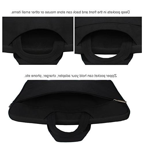 Arvok Multi-Color Laptop Bag Handle/Notebook Briefcase Carrying Bag, Black