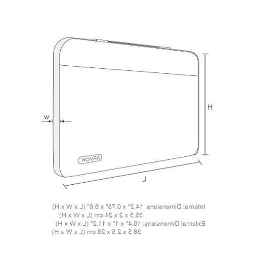 Arvok Inch Water-resistant Laptop Sleeve & Pocket/Notebook Bag For Acer/Asus/Dell/Lenovo/HP/Samsung