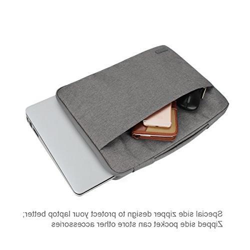 Arvok 14 Inch Canvas Fabric Laptop Sleeve & Zipper Pocket/Notebook Computer Case/Ultrabook Tablet Bag Acer/Asus/Dell/Lenovo/HP/Samsung