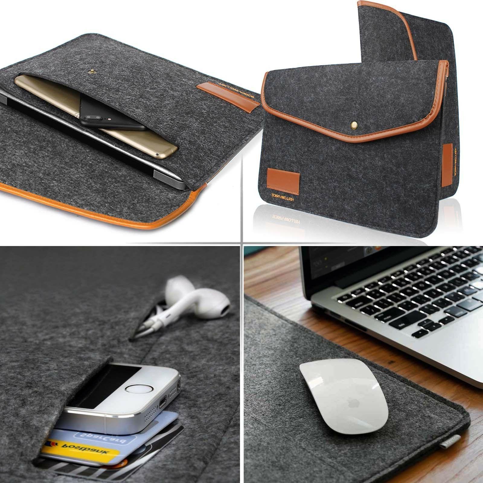 Felt Business Notebook Sleeve Case Laptop Bag For iPad 12.9/