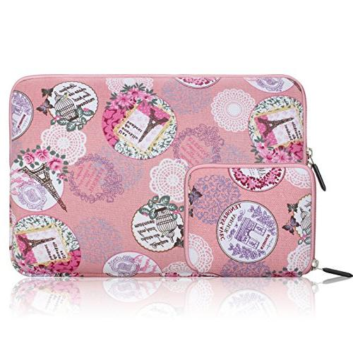 6 canvas fabric laptop sleeve
