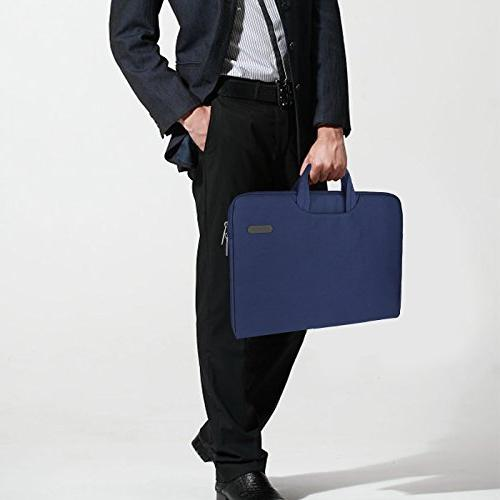 Arvok Inch Canvas Fabric Laptop Sleeve Pocket/Notebook Carrying Bag/Pouch Cover for Acer/Asus/Dell/Lenovo/HP,Denim