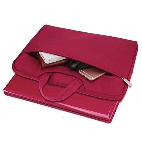 Arvok 13.3 Inch Laptop Sleeve Handle & Zipper Case/Ultrabook Briefcase Cover Acer/Asus/Dell/Lenovo/HP,Wine