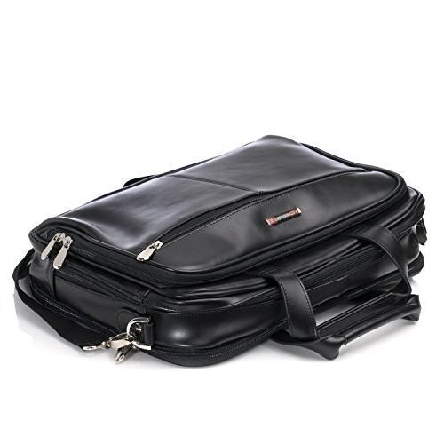 Alpine Swiss Monroe Briefcase Top-Zip Laptop Messenger Bag