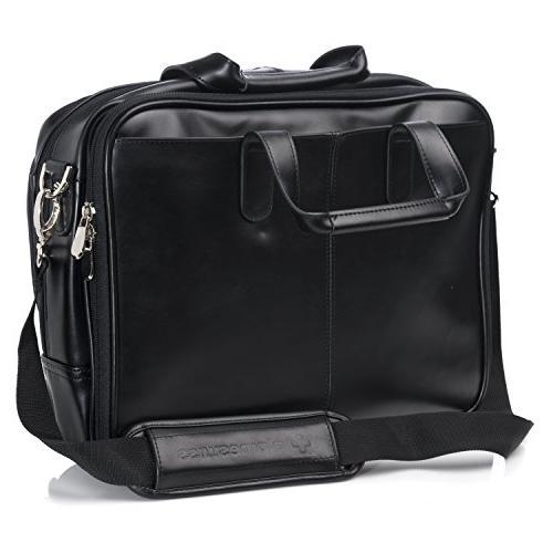 Alpine Swiss Monroe Briefcase Top-Zip Laptop Bag