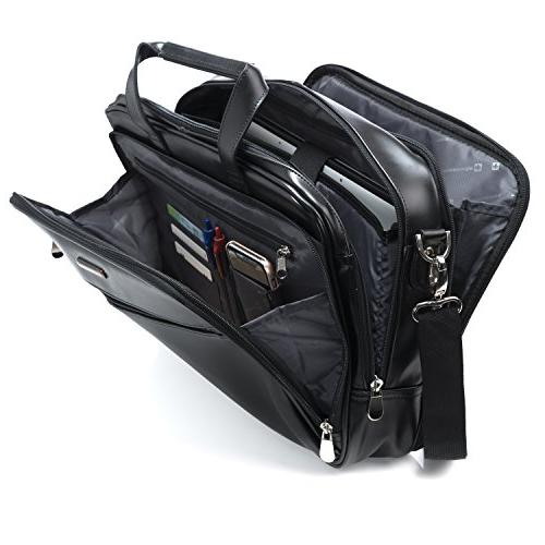 Alpine Briefcase Top-Zip Bag Black