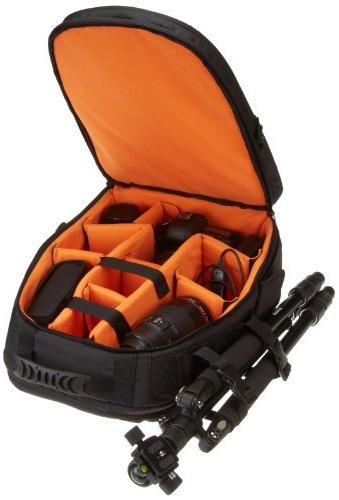 AmazonBasics Backpack Orange interior