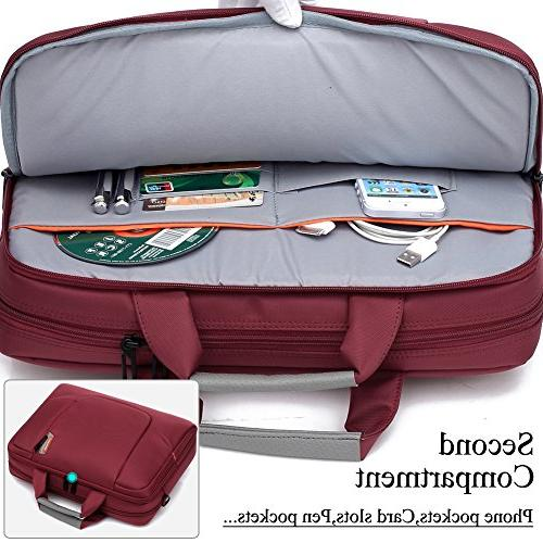BRINCH 17.3 Soft Laptop Computer Cover Sleeve Shoulder Strap Side Detachable Laptop Notebook / NetBook / Chromebook,Colour Red