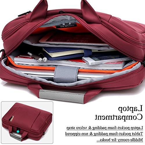 BRINCH inch Soft Nylon Waterproof Laptop Computer Case Shoulder Side Pockets Handles and Detachable 15 Asus/DELL/HP/Samsung,Colour