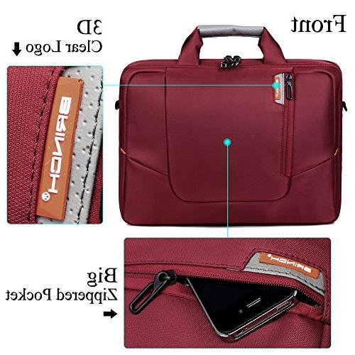 BRINCH 17.3 New Soft Nylon Computer Case Cover Shoulder Side and Detachable Laptop / Notebook / NetBook Chromebook,Colour Red