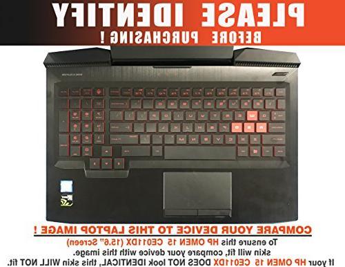 Decalrus Protective for HP Laptop WHITE Carbon skin case CFhpOmen15_ce011dxWhite