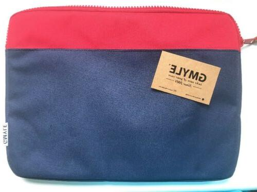 """GMYLE Laptop Sleeve Case Bag for 13"""". Blue And Red. Zipper"""
