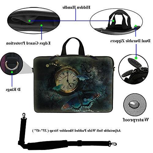 Meffort Inc 15 inch Bag Carrying Case Hidden Handle and Shoulder Strap - Butterfly