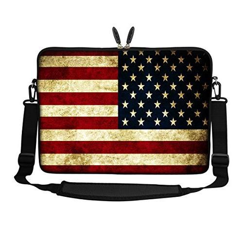Meffort Inc inch Bag Carrying Case Hidden Shoulder Strap USA Flags
